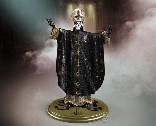 Ghost Papa Emeritus II Rock Iconz Statue-KNUGHOSTPAPA200-KNUCKLEBONZ