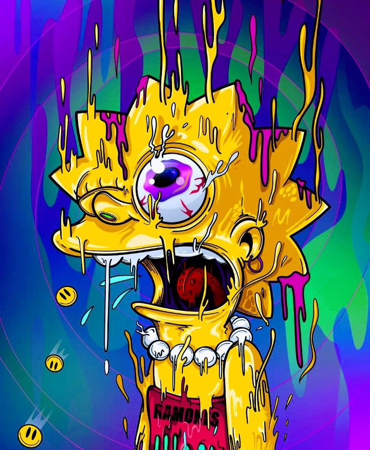 Melting Lisa, The Simpsons  Papeis De Parede Psicodelicos