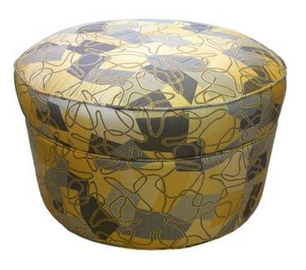 How To Make A Round Cylinder Type Storage Ottoman With Images
