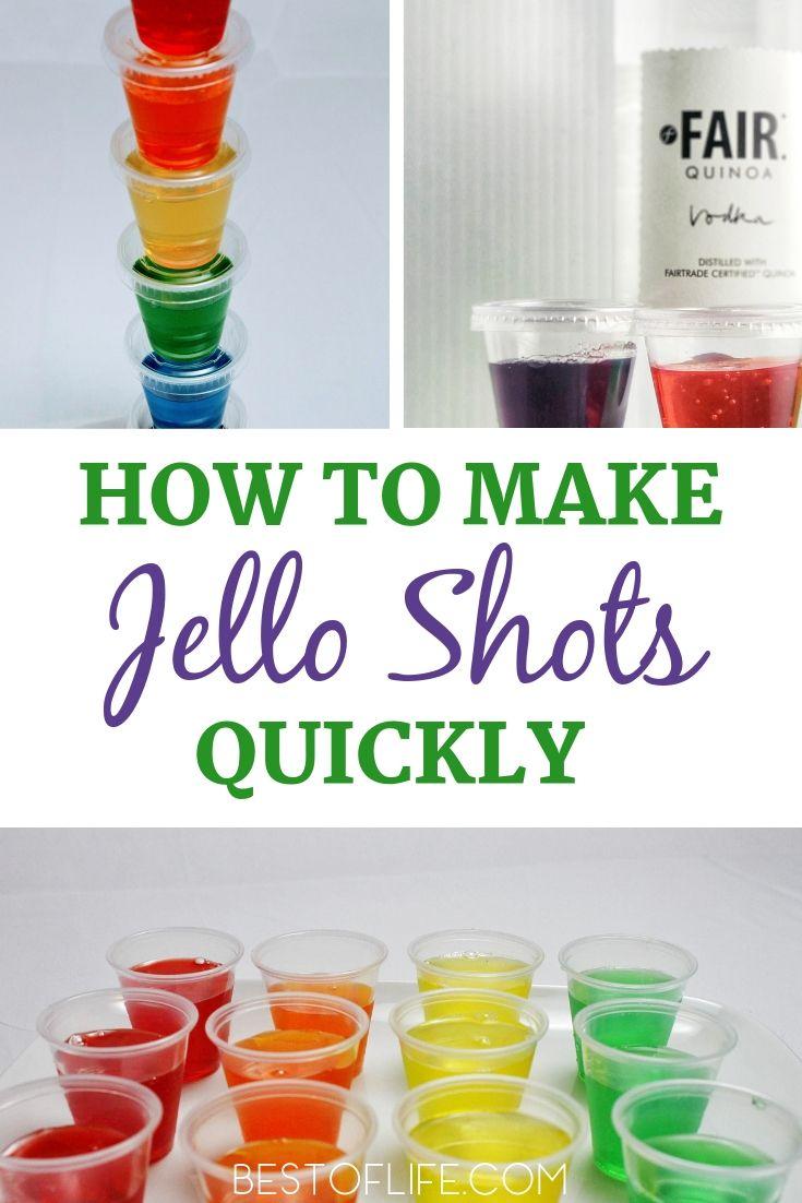 How to make jello shots quick recipe making jello