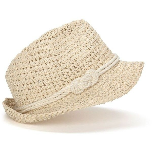 genie by Eugenia Kim Darcy Paper Crochet Fedora With Knot ❤ liked ...