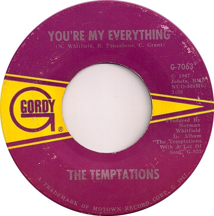 You Re My Everything The Temptations 1967 1960 S