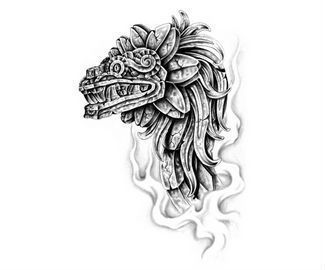 aztec tattoo design the tattoo art tatto aztec warrior pinte. Black Bedroom Furniture Sets. Home Design Ideas