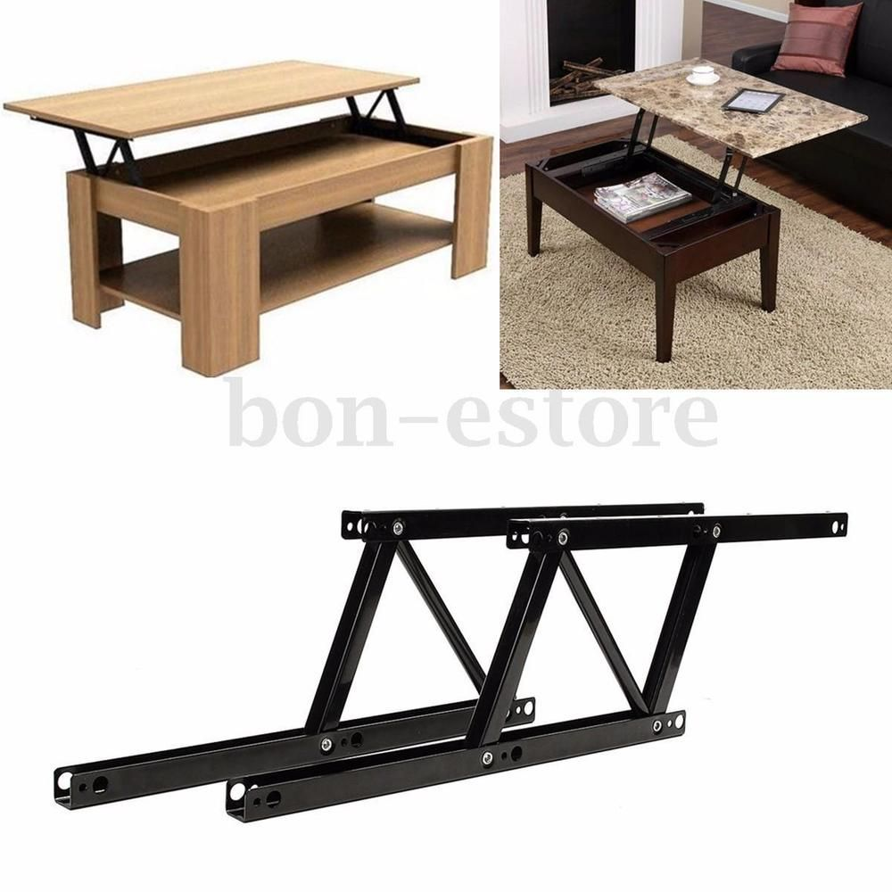 1pair Lift Up Top Coffee Table Lifting Frame Mechanism Spring Hinge Hardware New Unbrandedgeneric