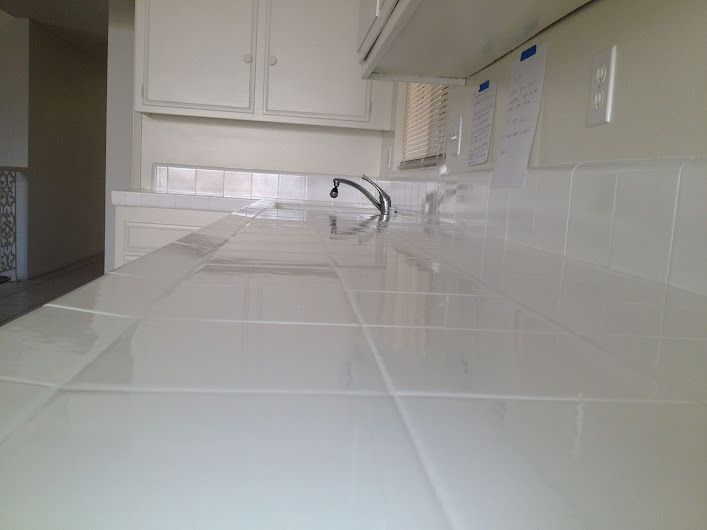 Pkb Reglazing Tile Kitchen Countertop Reglazed White 2