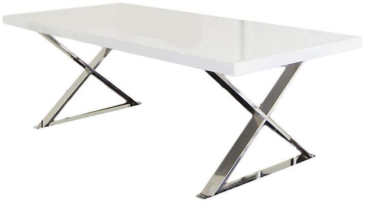 One Kings Lane X Leg 87 Dining Table White Lacquer Affiliate