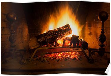 Fireplace Poster By Michael Riccardo Poster Sell Your Art