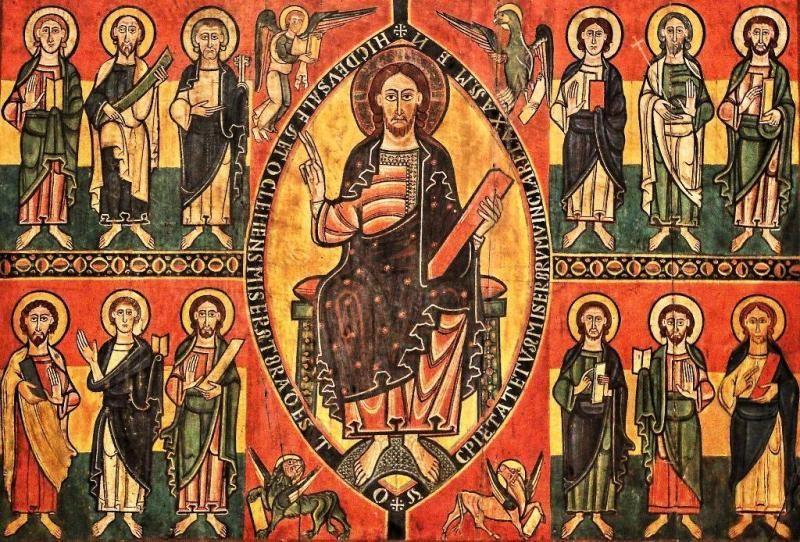 Frontal De Esquius Pintura Al Temple Sobre Tabla Romanesque