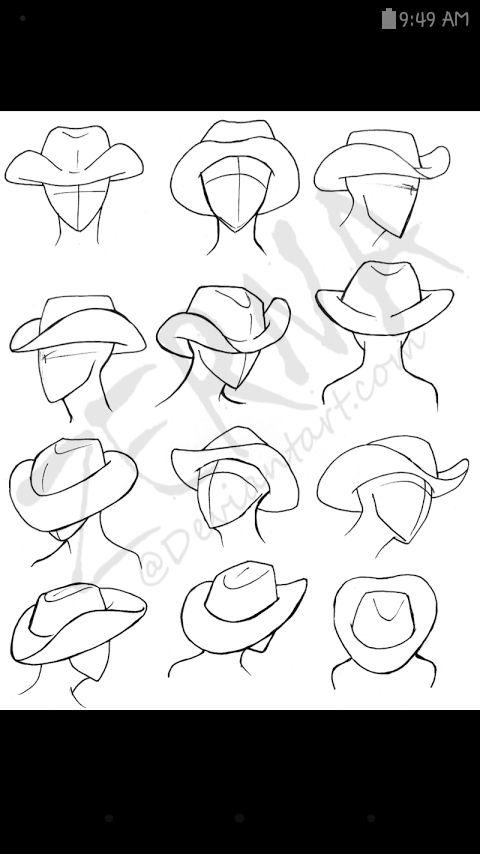 How To Draw Cowboy Hats Drawing Tips Drawings Drawing Hats Art