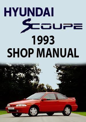 Hyundai S Coupe 1993 Shop Manual Hyundai Manual Car Volkswagen