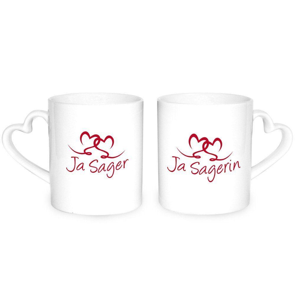 Herz Tassen für Ja-Sager/in ♥ Hochzeitsgeschenk, Geschenk, Hochzeit ...