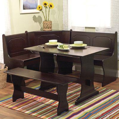 Alcott Hill Bronzewood 3 Piece Dining Set Reviews Wayfair Breakfast Nook Furniture Nook Dining Set Corner Bench Kitchen Table