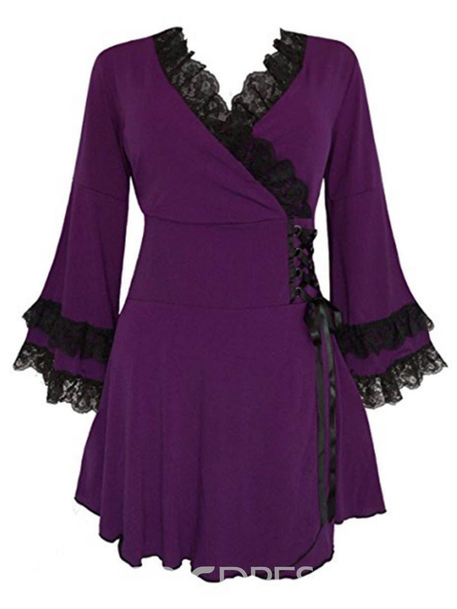 5c00addf6603b Ericdress Gothic Boho Plus Size Victoria Corset T-Shirt