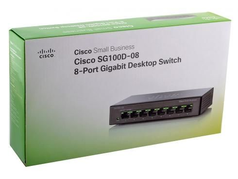 Cisco Small Business SG100D-08 Unmanaged 8-Port Desktop