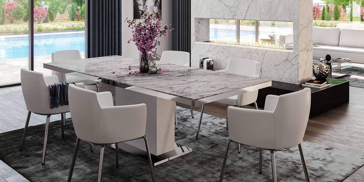 Nazario Dining Table Large Dining Table Modern Dining Table
