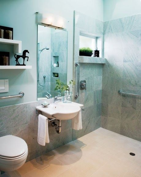 Universal Bathroom Design A Beautiful Onelevel Bathroom Design Perfect For A Wheelchair