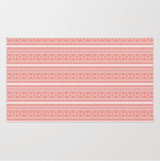 C Tribal Pattern Plush Area Rug