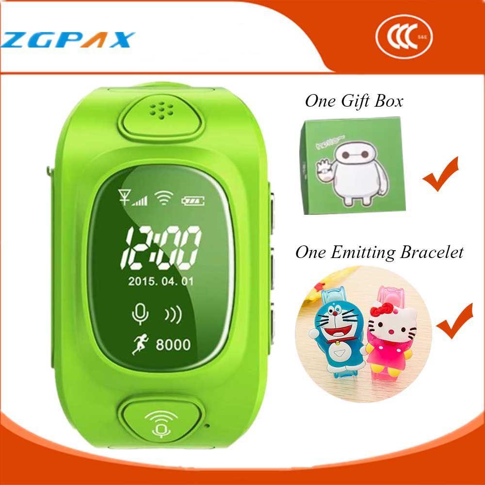 Heiße Uhr Telefon GPS Tracker Smart Uhr für Kinder Smartwatch wasserdichte SIM Silikon band LED