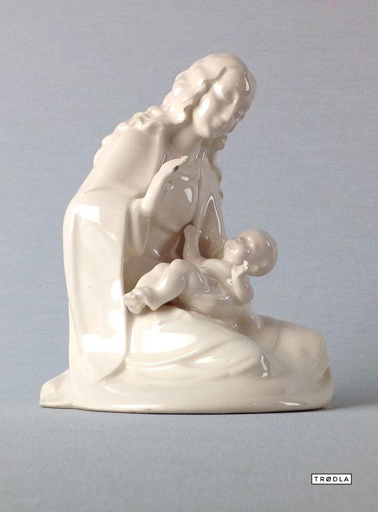 Porzellan Figur Mutter und Kind Maria und Jesus Weihnachten Krippe - wohnzimmer deko figuren