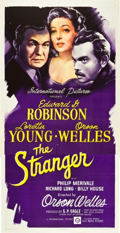 The stranger Orson Welles vintage movie poster print