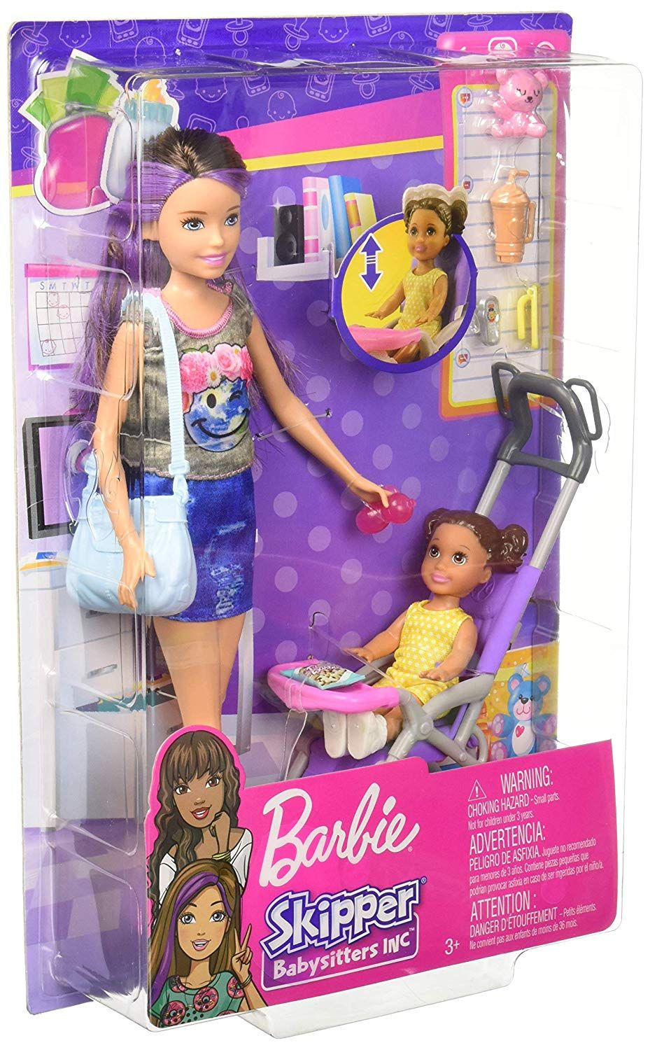 Skipper Babysitters Inc. playset with a babysitter doll, a