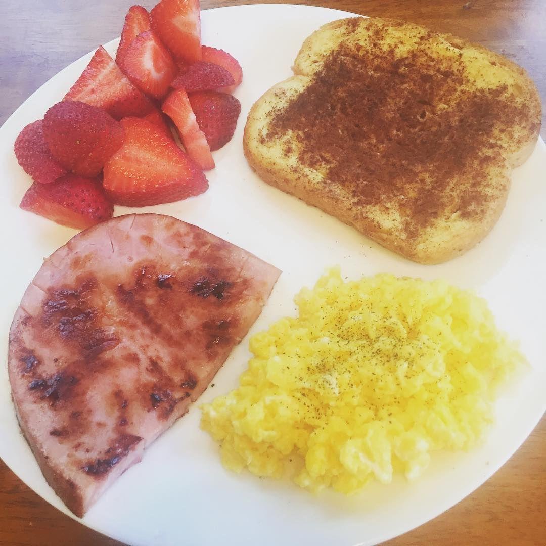 Scrambled Eggs And Ham Slice
