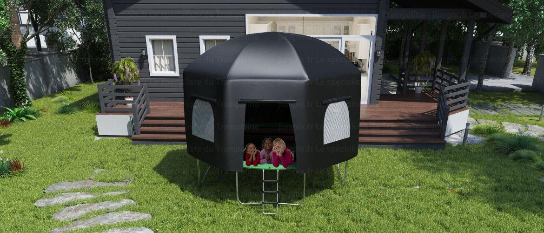 tente pour trampoline topflex 370 backyard days pinterest. Black Bedroom Furniture Sets. Home Design Ideas