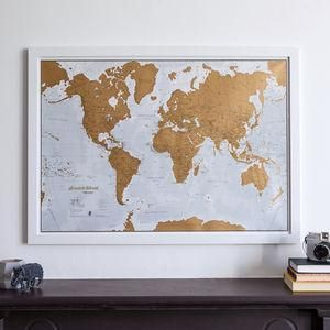 Scratch the world map print with coin coins and gift gumiabroncs Choice Image