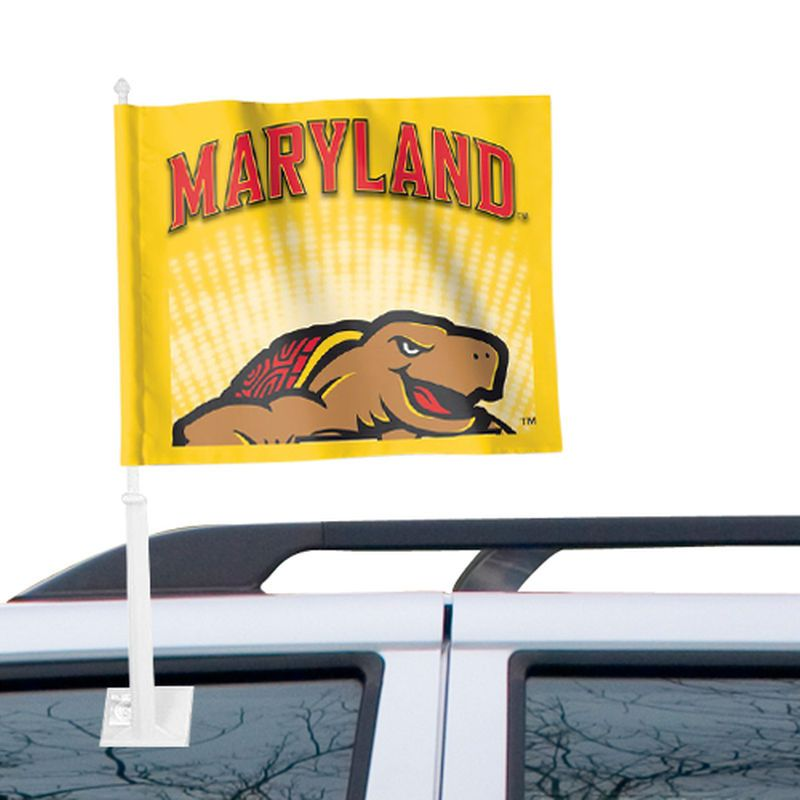 """Maryland Terrapins WinCraft 12"""" x 15"""" Double-Sided Car Flag"""