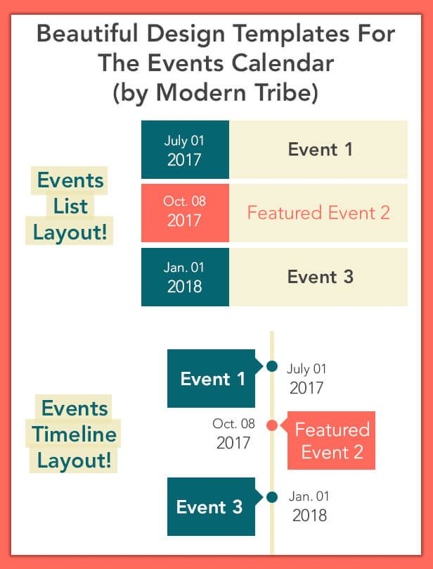 The Events Calendar Templates and Shortcode - WordPress Plugin - wordpress resume theme