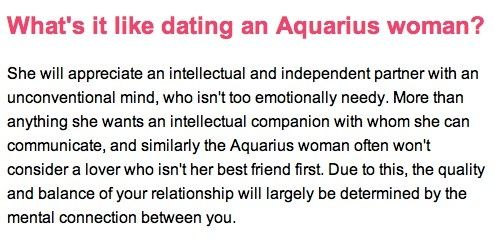 Facts about dating an aquarius