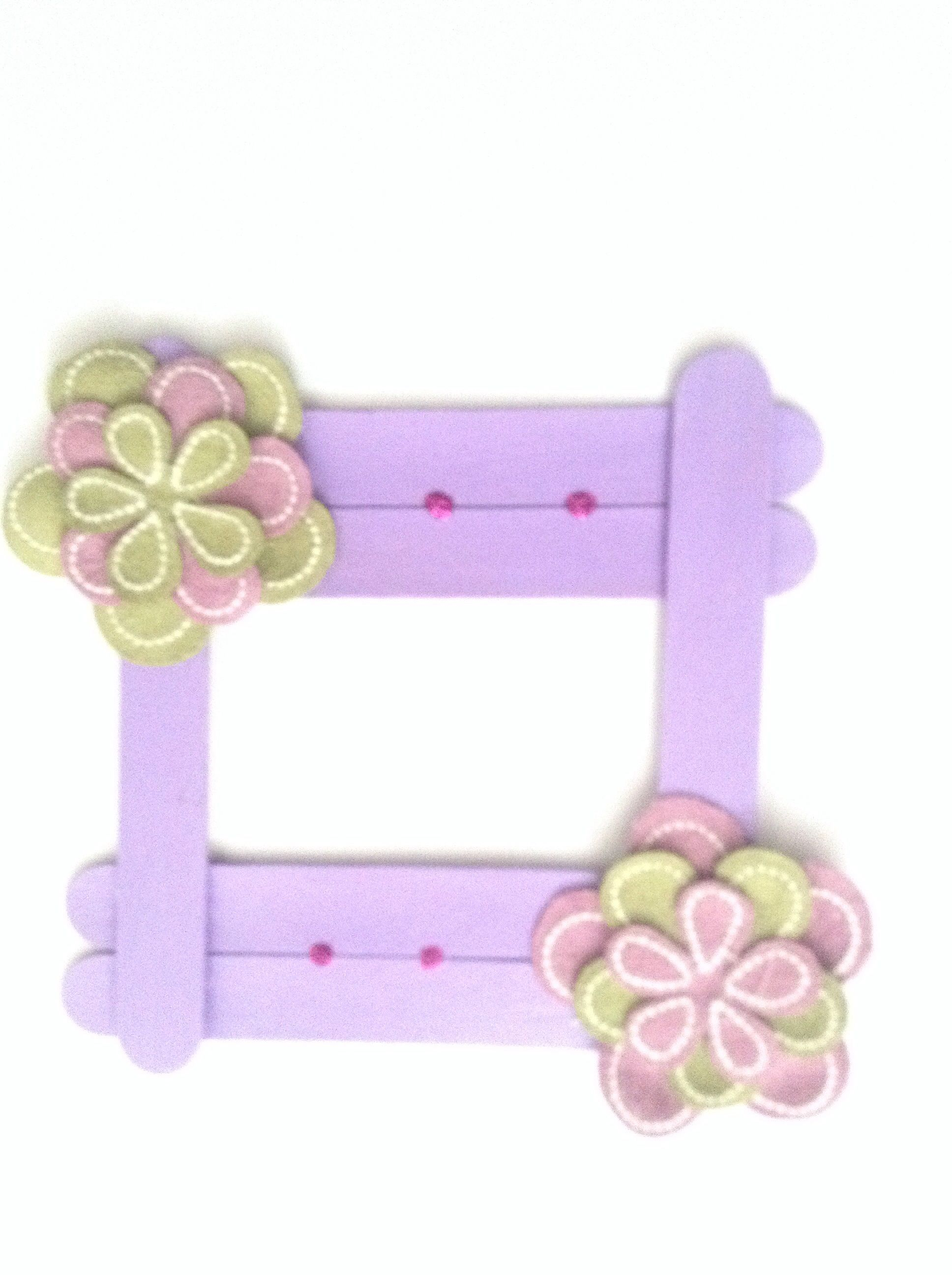 Craft stick photo frame, another example   popsicle sticks ...