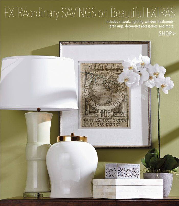 Extranordinary Savings On Beautiful Extras For The Home