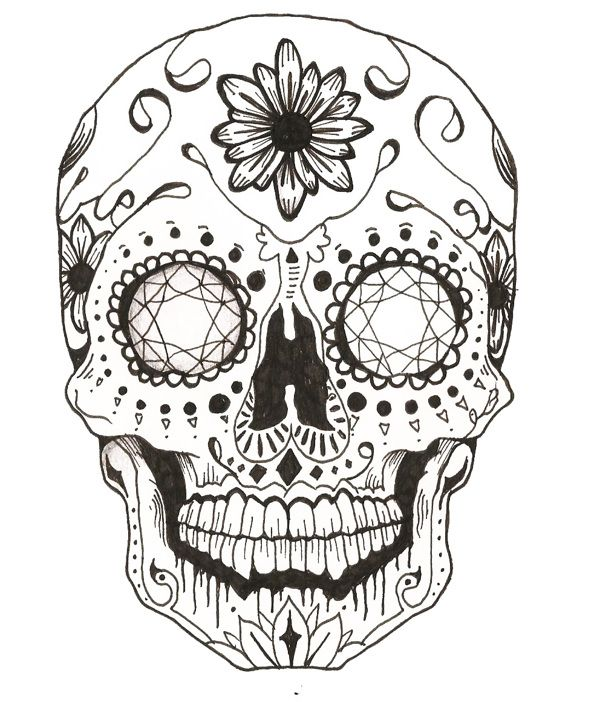 Sugar Skull Coloring Pages – coloring.rocks! | 702x600
