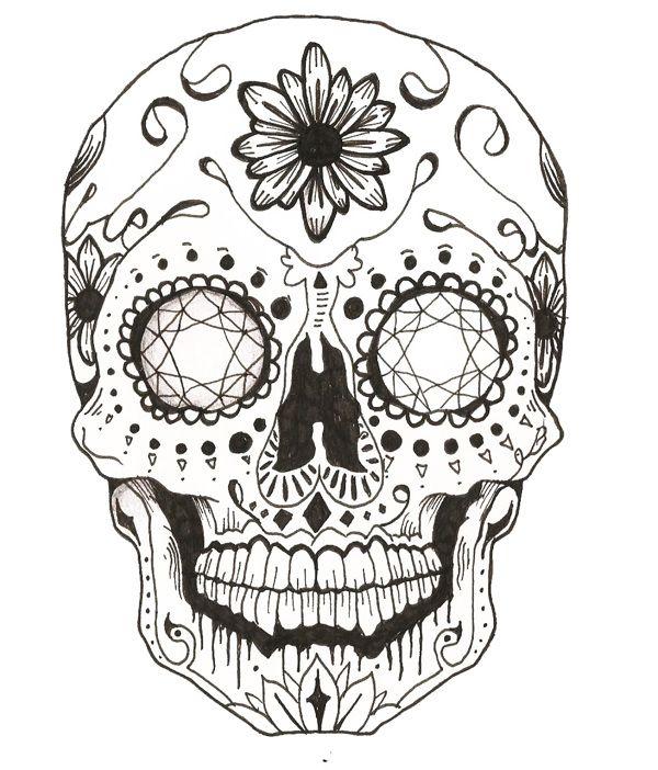 Candy Skull On Behance Skull Coloring Pages Sugar Skull Drawing Sugar Skull Tattoos