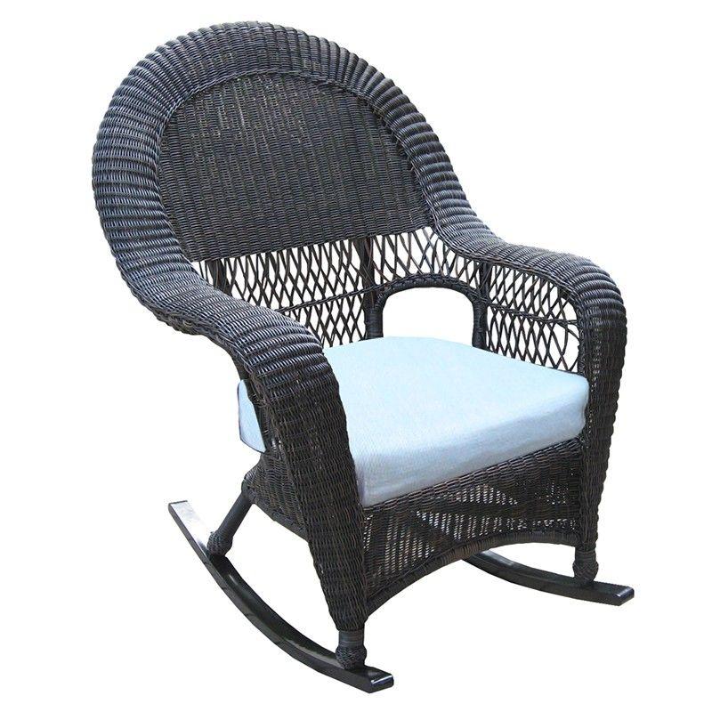 North Cape Wicker Port Royal Rocker   Wicker Rocking Chairs   Wicker Seating
