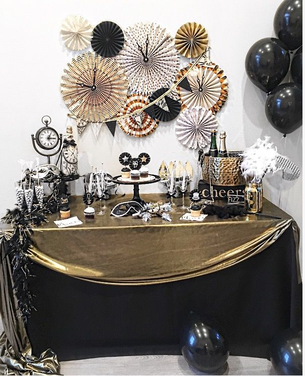 New Years Party New Year Eve Party Decorations Black And Gold