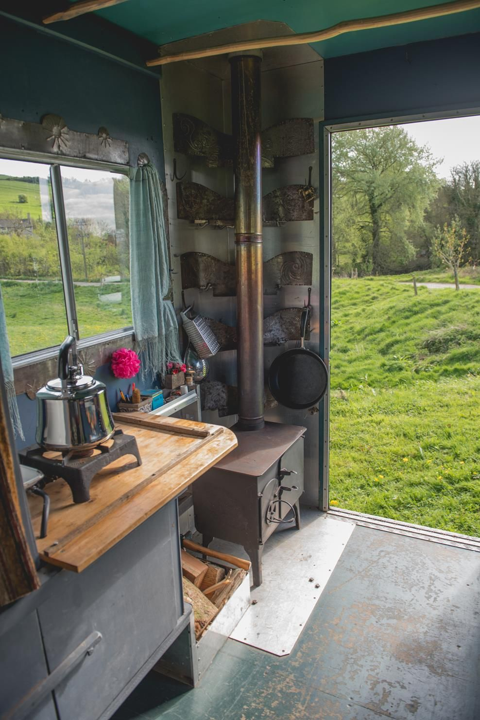 This campervan is so cosy and practical. The burner/oven is great for relaxing in front of or cooking your dinner in!  www.quirkycampers.co.uk