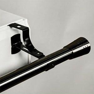 support de tringle rideaux 16 20mm sans per age noir secodir deco tringle rideau tringle