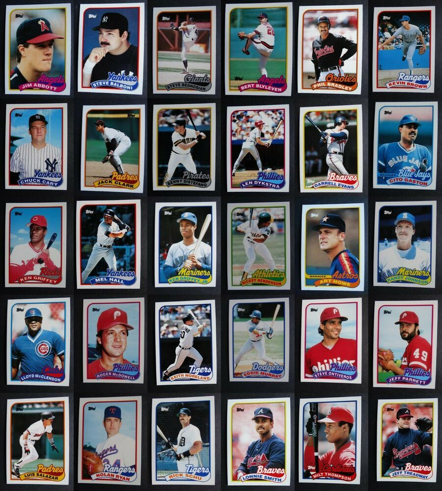 1989 topps traded baseball cards complete your set pick