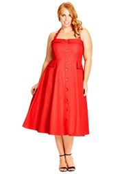 7fa41548828 City Chic  Roman Holiday  Denim Halter Dress (Plus Size)