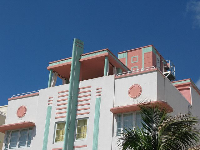 miami art deco district by bollilaurent, via Flickr
