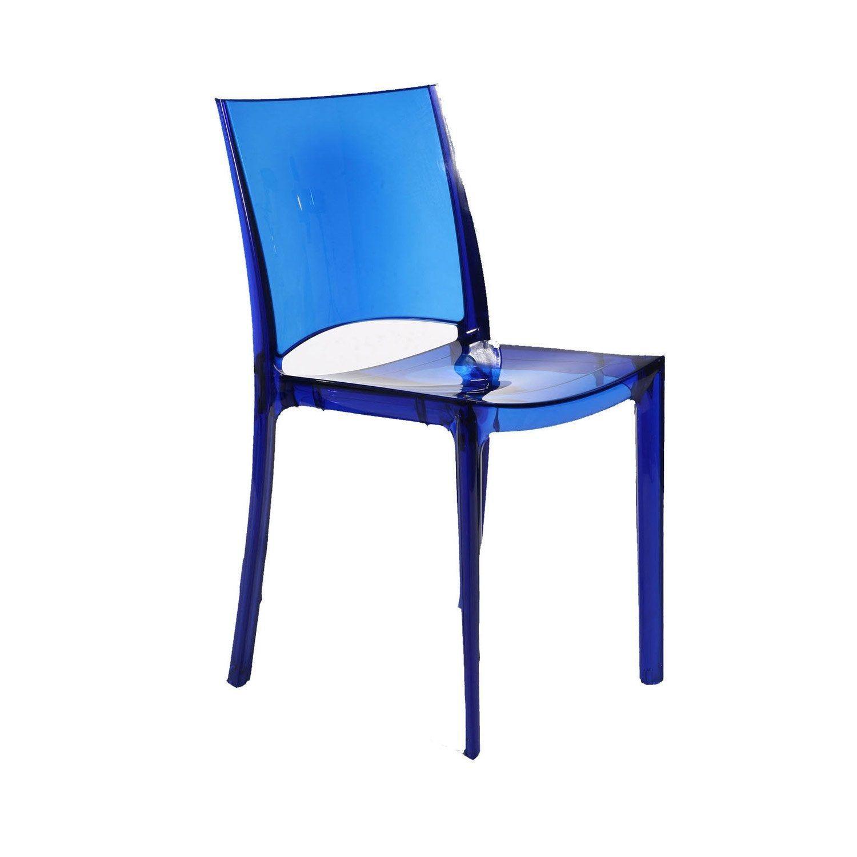 Chaise De Jardin En Polycarbonate Paris Lux Bleu Chair Dining Chairs Furniture