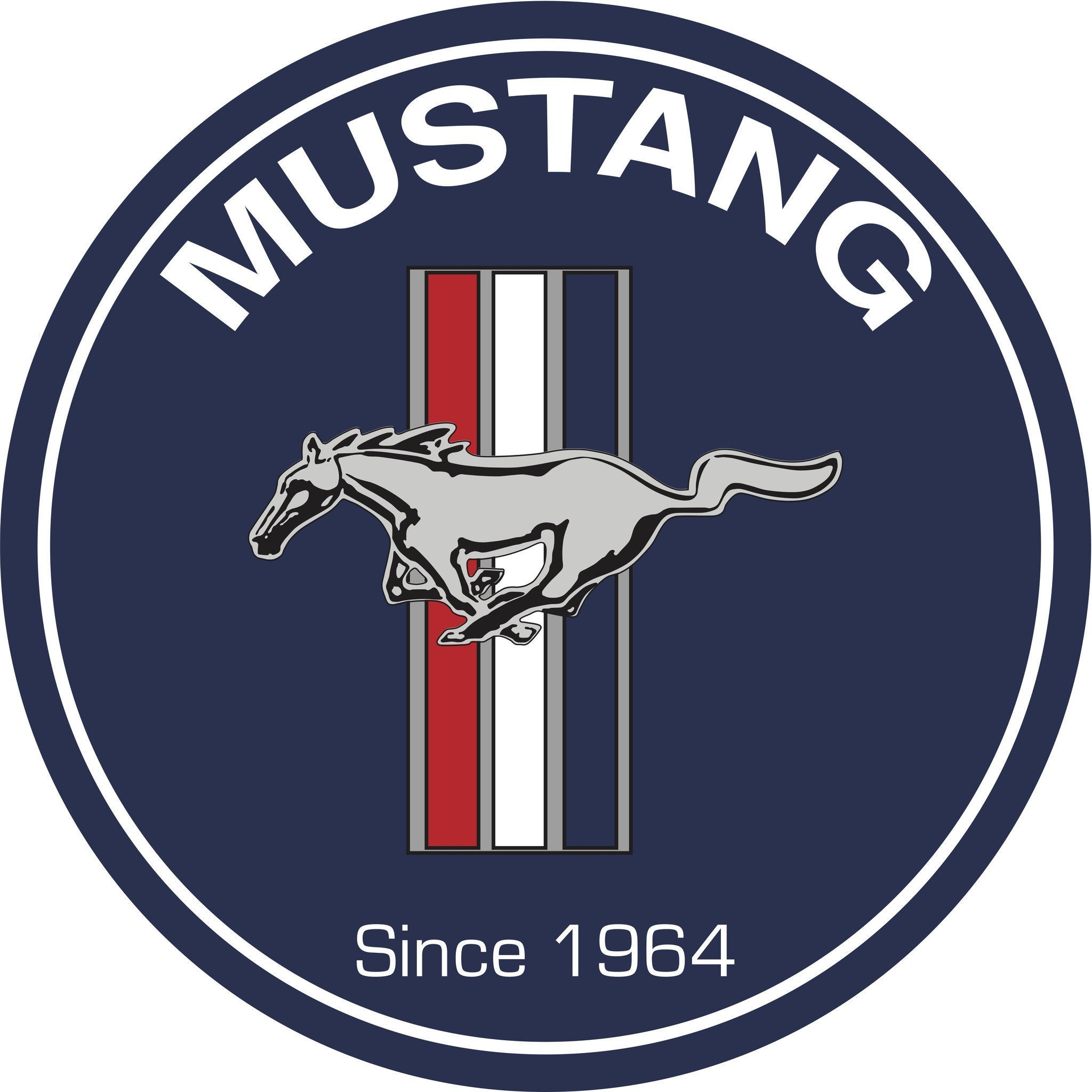 7 diameter metal sign classic ford mustang logo perfect. Black Bedroom Furniture Sets. Home Design Ideas