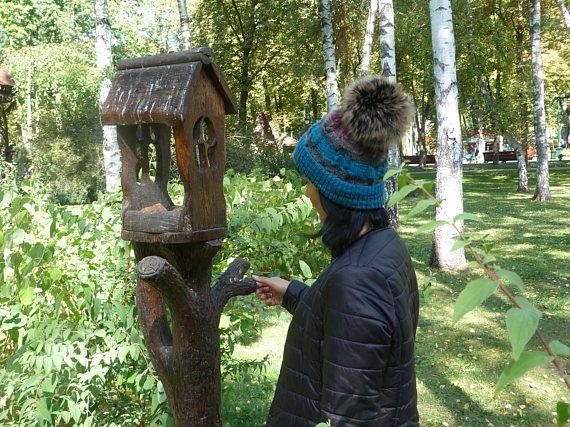 Women Ladies Farmed Raccoon Fur Pom Pom Hat Diamante Warm Winter Baby Wool  Ski. Winter 13e474cdc016