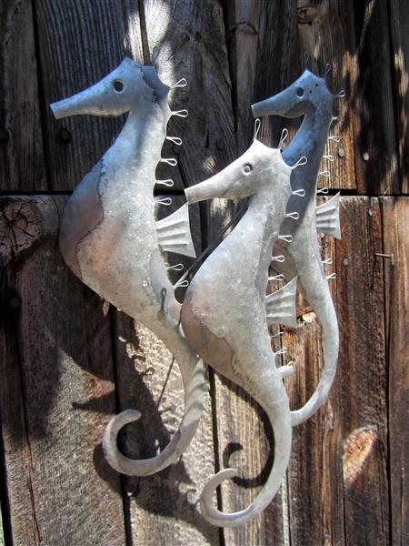 Trio Of Seahorses Wall Art Sea Creatures Beach Fish Ornaments