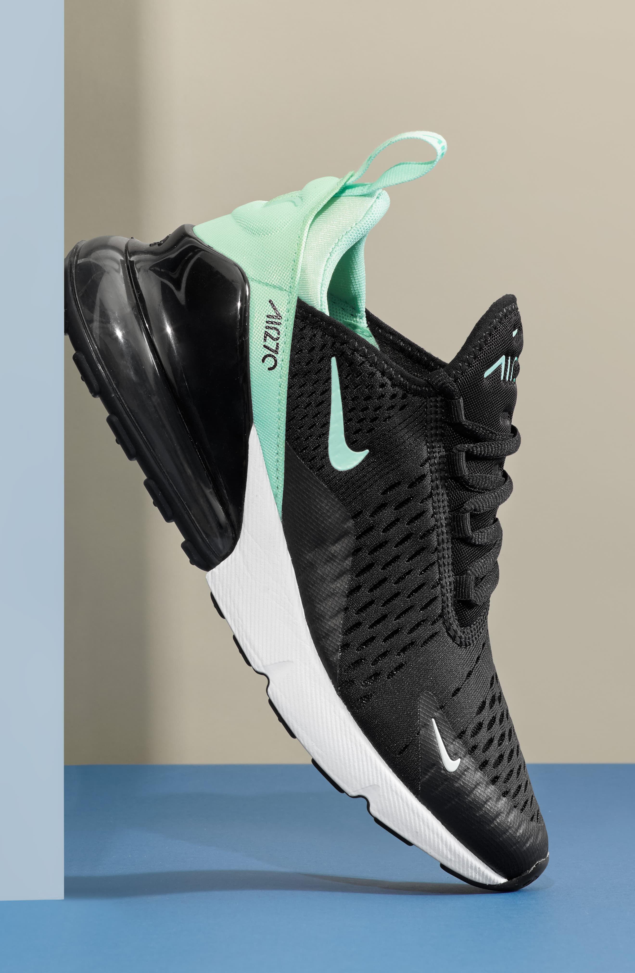 Nike Air Max 270 Premium Sneaker Sz 9 Black White