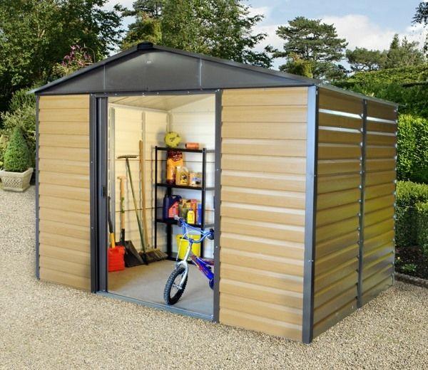 Garden Sheds Metal yardmaster 10ft x 8ft woodview shiplap metal shed | gardens