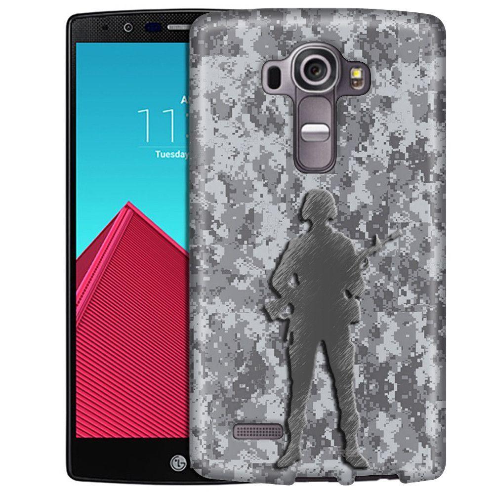 LG G4 Digital Grey Camouflage Soldier Slim Case