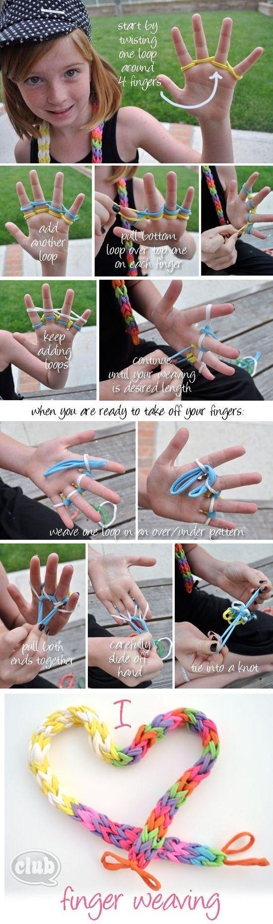 DIY Finger Weaving